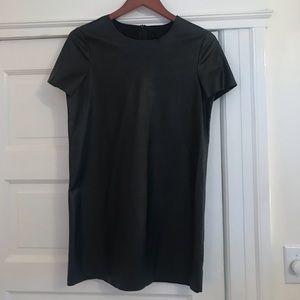 Topshop 'Paloma' Faux Leather Dress